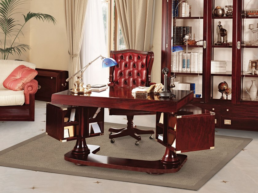 Mahogany executive desk REGENT | Executive desk by Caroti
