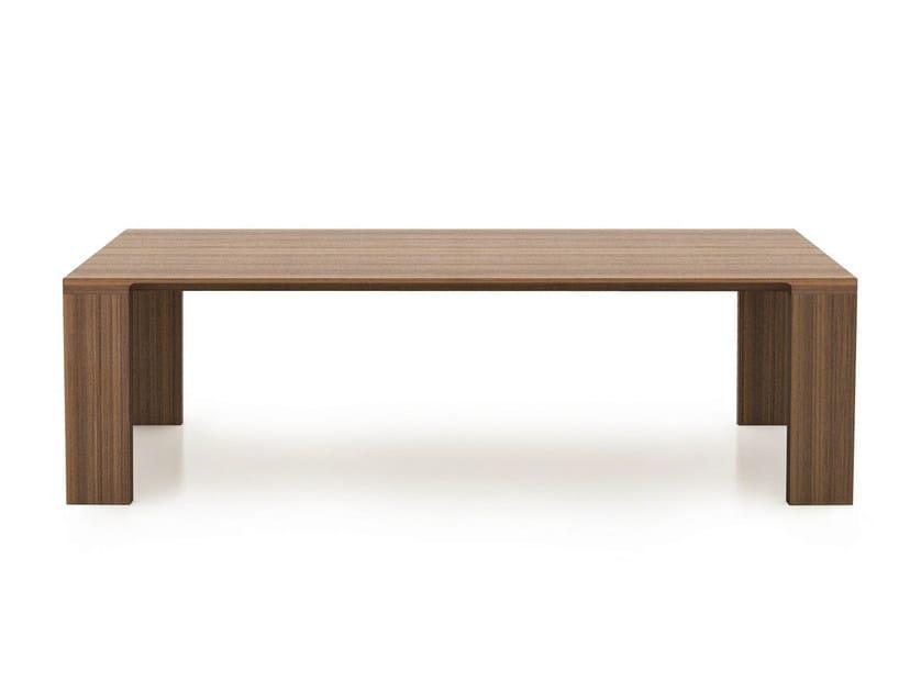 Rectangular walnut table RADII | Walnut table by BENSEN