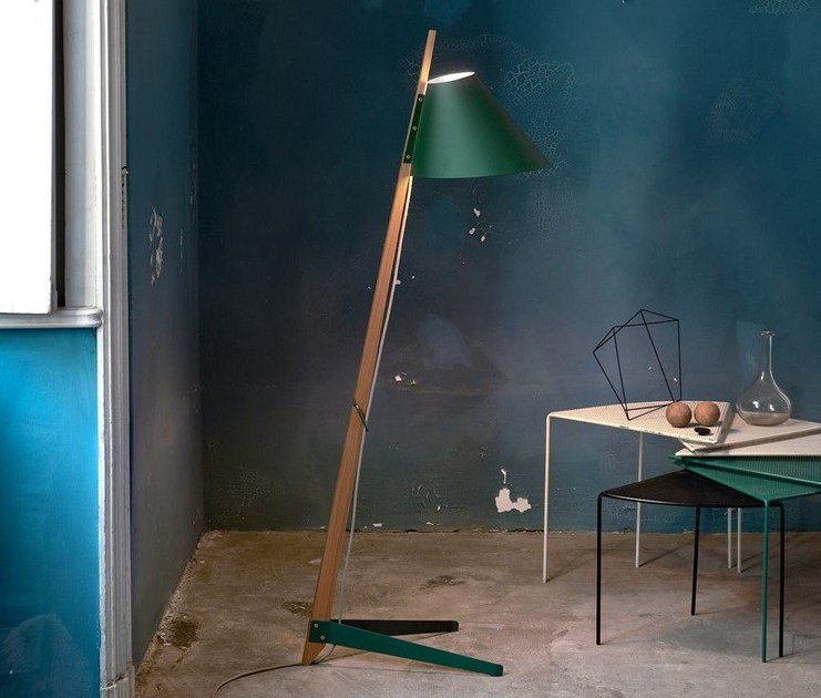 Oak floor lamp BILLY BL by Kalmar