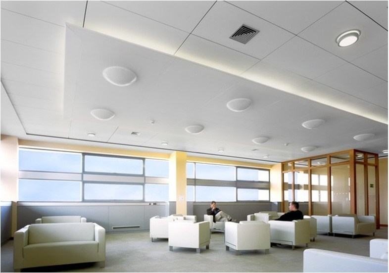 Acoustic ceiling tiles Ecophon Focus™ Wing by Saint-Gobain ECOPHON