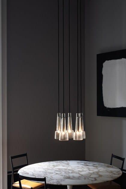 Direct light crystal chandelier KEULE 5 by Kalmar