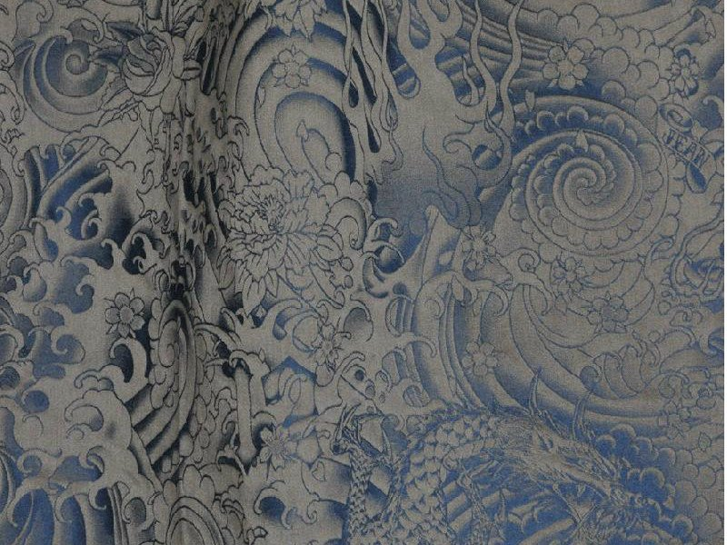 damask cotton upholstery fabric komodo by lelievre design jean paul gaultier. Black Bedroom Furniture Sets. Home Design Ideas