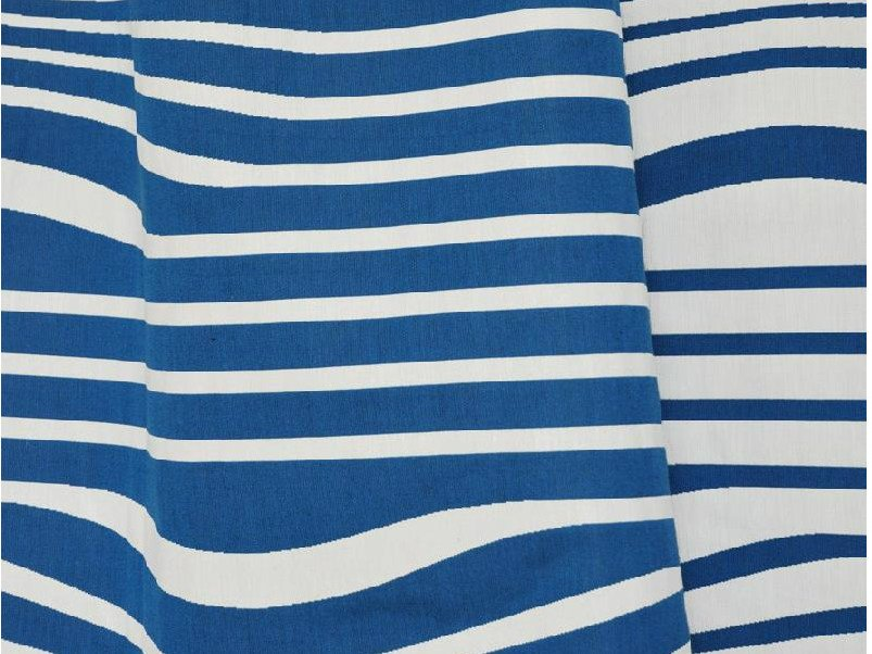 Striped reversible cotton fabric ILLUSION by LELIEVRE
