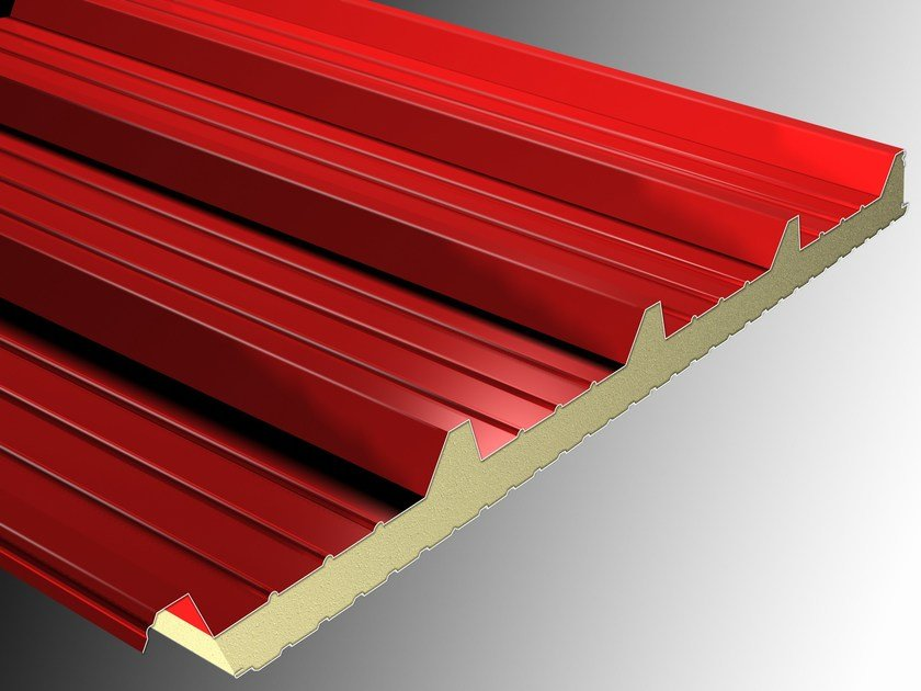 Insulated metal panel for roof ISOMETAL 5G by Isometal