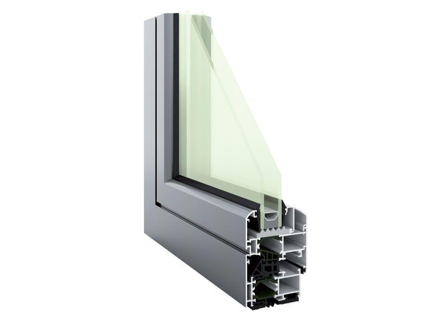 Aluminium thermal break window HEVO 62 | Thermal break window by PFT HEVO