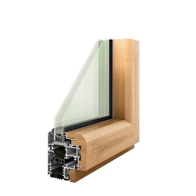 Aluminium and wood thermal break window HEVO 68 | Aluminium and wood window by PFT HEVO