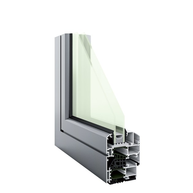 Aluminium thermal break window HEVO 68 | Thermal break window by PFT HEVO
