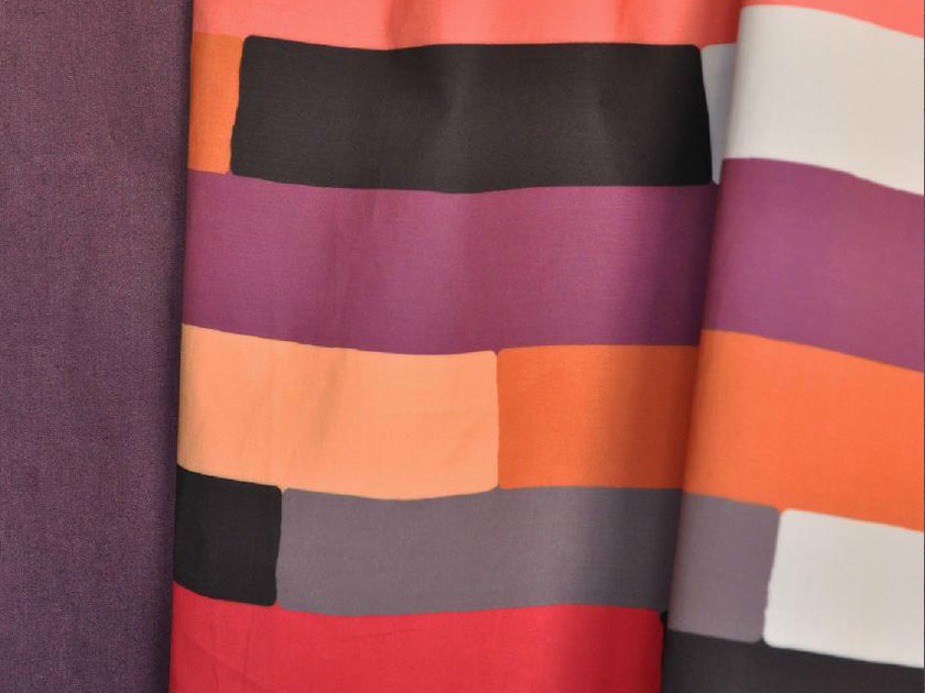 Washable multi-colored linen fabric TWIST by LELIEVRE