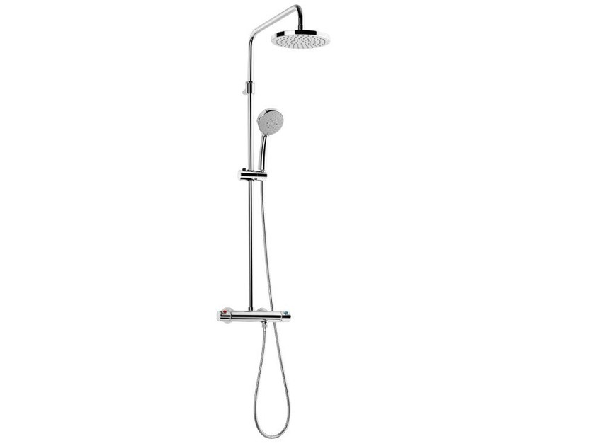 Thermostatic shower panel with hand shower VICTORIA | Wall-mounted shower panel by ROCA SANITARIO