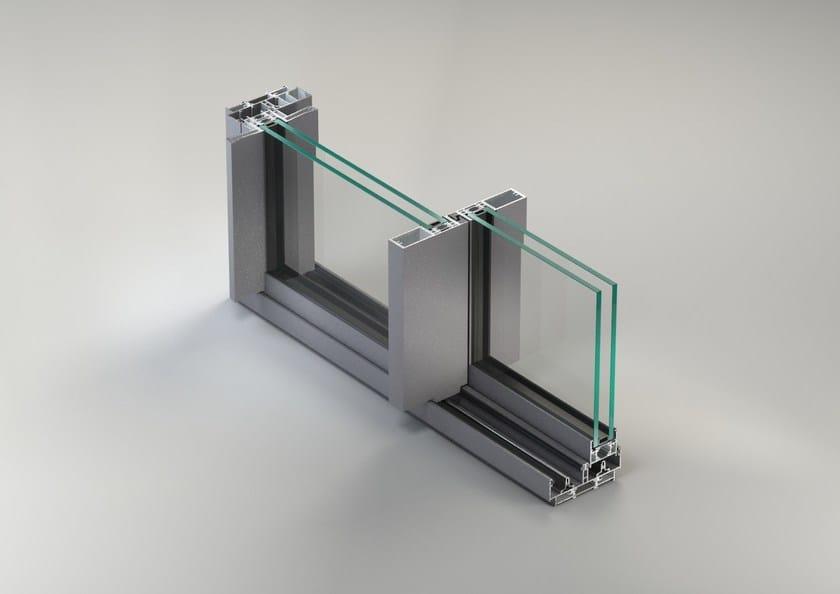 Aluminium thermal break window NC-S 120 STH Linea Slim by METRA