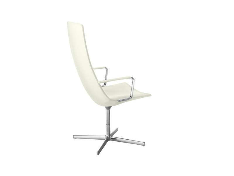 Executive chair with 4-spoke base with armrests CATIFA 60 | Executive chair with armrests by arper