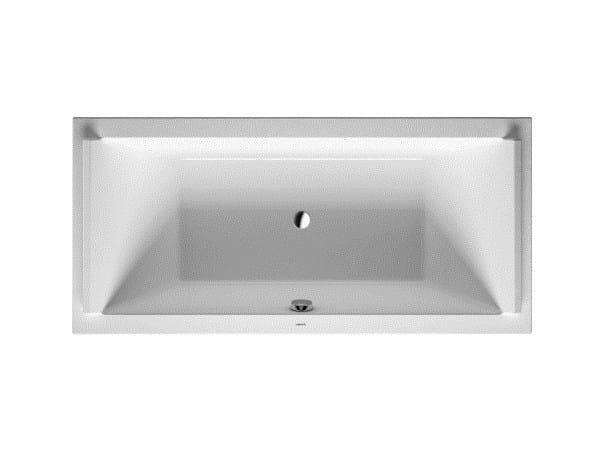 Rectangular acrylic bathtub STARCK | Bathtub by Duravit