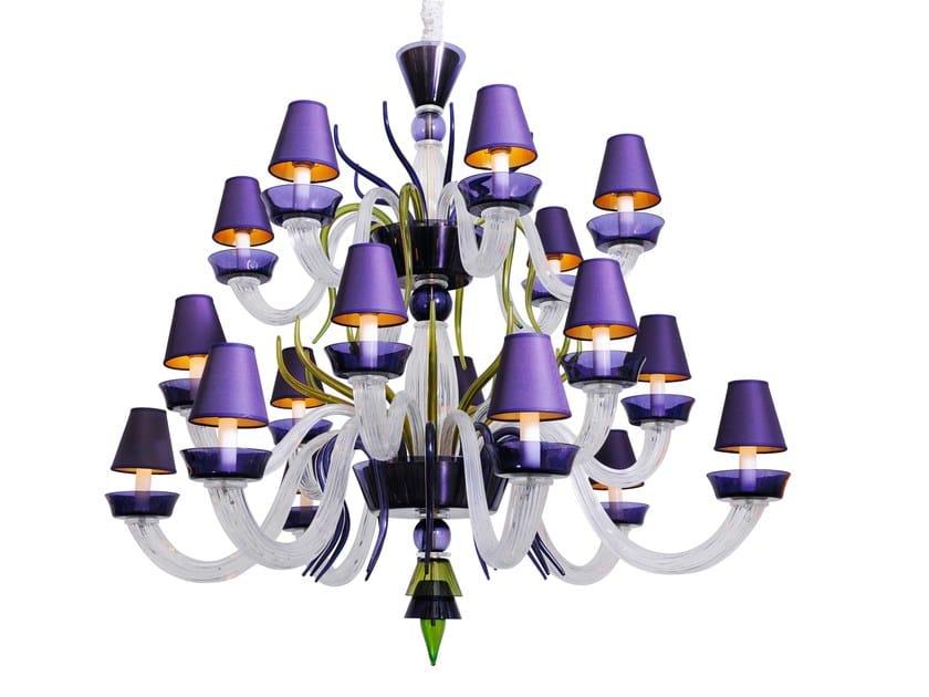 Murano glass chandelier CAIGO 2 | Chandelier by Veronese