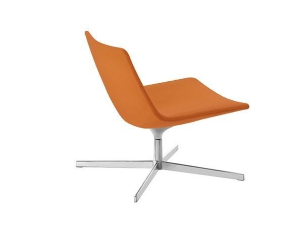 Swivel easy chair with 4-spoke base CATIFA 60 | Easy chair with 4-spoke base by arper