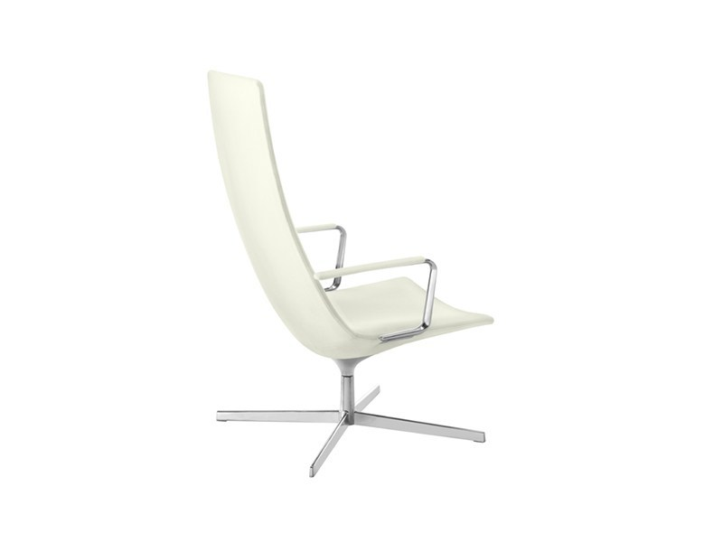 Swivel easy chair high-back CATIFA 60 | Easy chair with armrests by arper