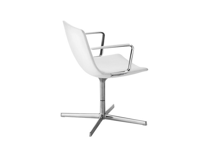 Swivel task chair with 4-Spoke base with armrests CATIFA 60 | Task chair with armrests by arper