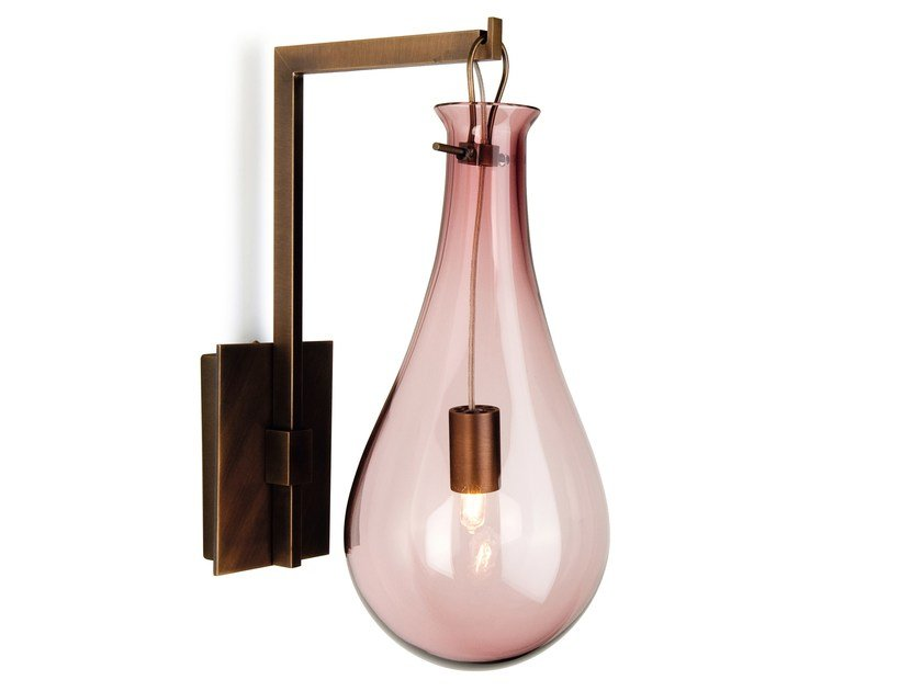 Murano glass wall light DROP | Wall light by Veronese