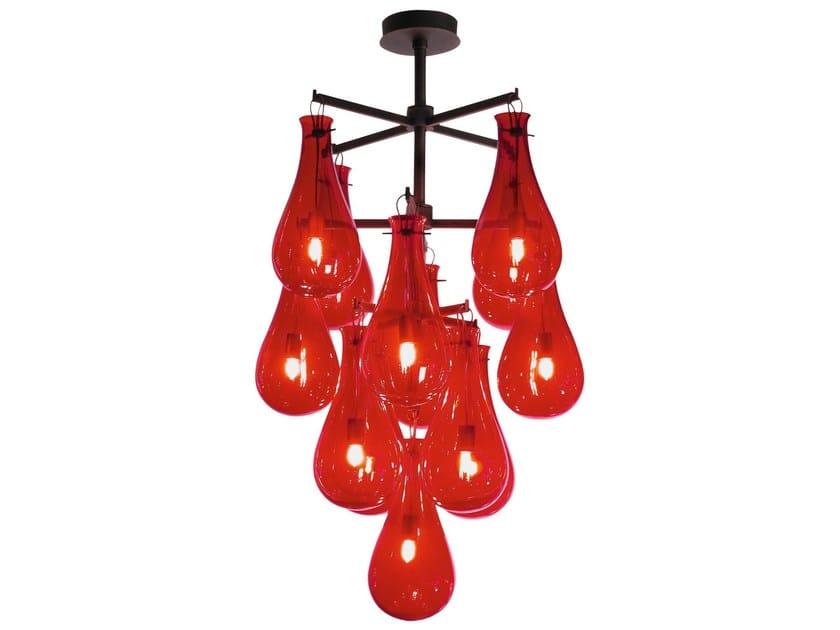 Murano glass chandelier DROP | Chandelier by Veronese