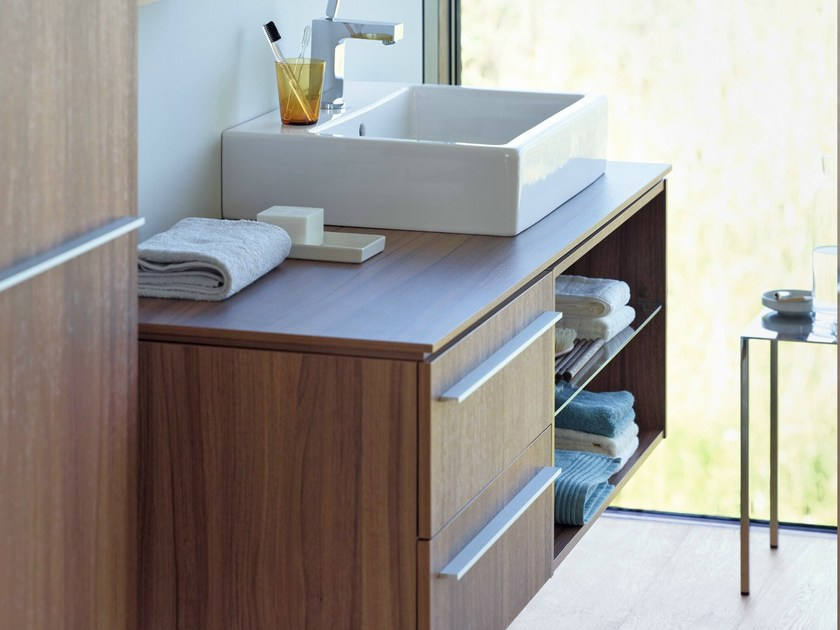 Wall-mounted wooden vanity unit X - LARGE | Vanity unit by Duravit
