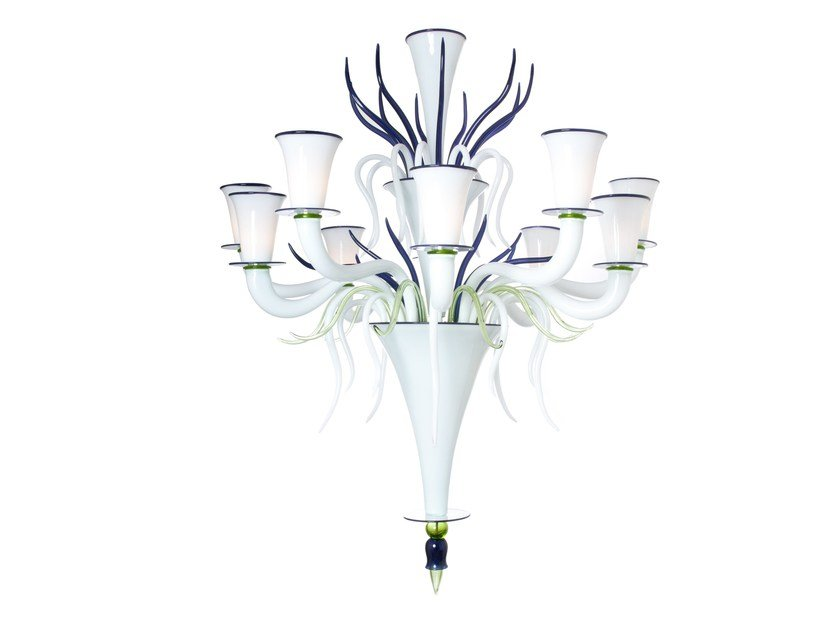 Murano glass chandelier ALLEGRIA by Veronese