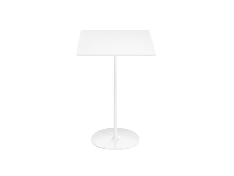 Square high table DIZZIE H 105 | Square table by arper