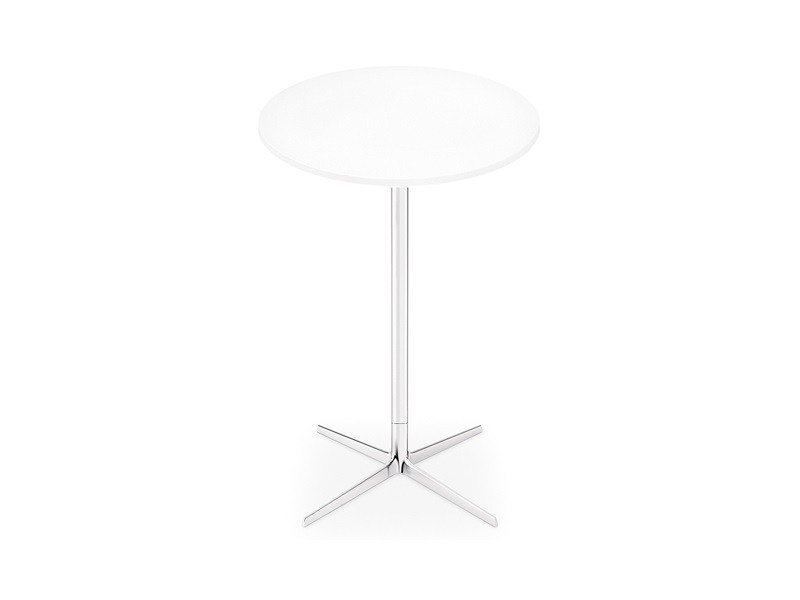 High table with 4-star base FRED H 105 | Round table by arper