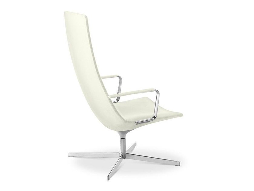 Armchair with 4-spoke base with armrests CATIFA 70 | Armchair with armrests by arper