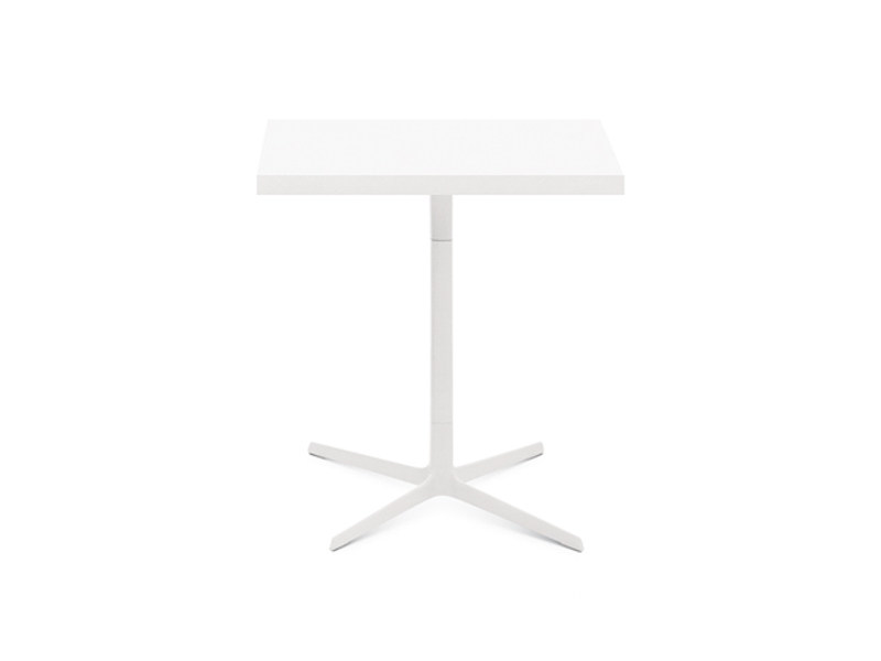 Square table with 4-star base GINGER H 74 | Square table by arper