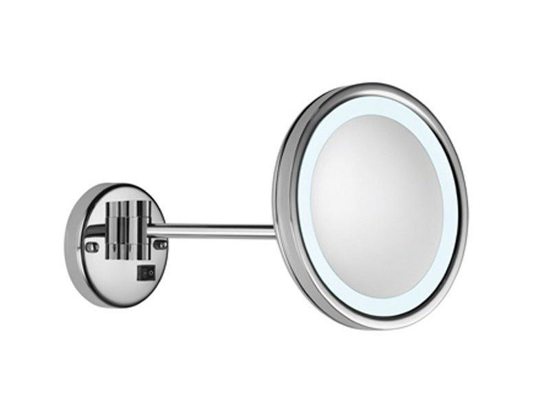 Wall-mounted shaving mirror with integrated lighting Valera OPTIMA LIGHT ONE by VISION ALTO ADIGE