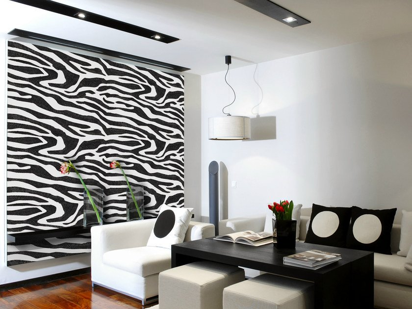 Water-based decorative painting finish with faux fabric effect ZEBRA by VALPAINT