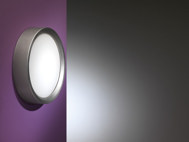 LED polycarbonate wall light AREO PLUS FLAT 350 | Wall light by Lombardo