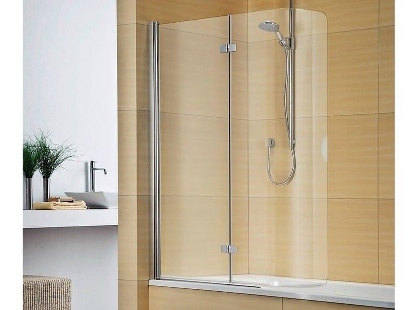 Folding crystal bathtub wall panel MULTI-S 4000 by Duka