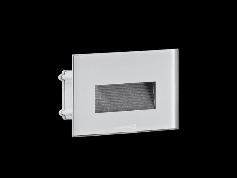 LED glass and aluminium steplight STILE NEXT 503 ASIMMETRICO by Lombardo