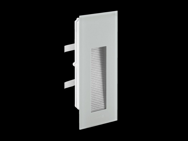 LED wall-mounted tempered glass steplight STILE NEXT 106L ASIMMETRICA by Lombardo