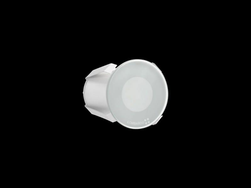 Glass and aluminium spotlight / steplight STILE NEXT 60T by Lombardo