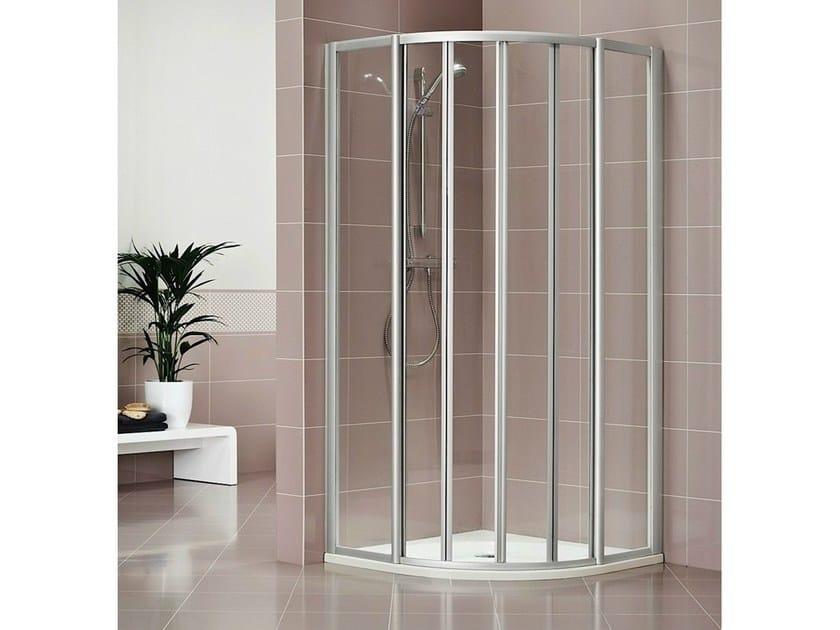Crystal shower cabin with sliding door DUKESSA 3000 by Duka