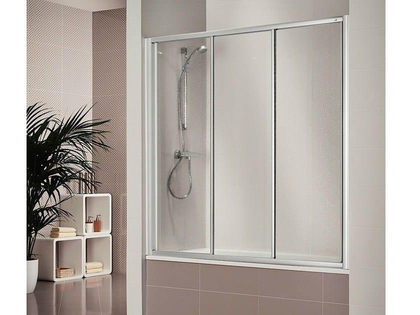 Pareti Per Doccia In Acrilico : Box doccia in acrilico tondo con sportello battente olympia
