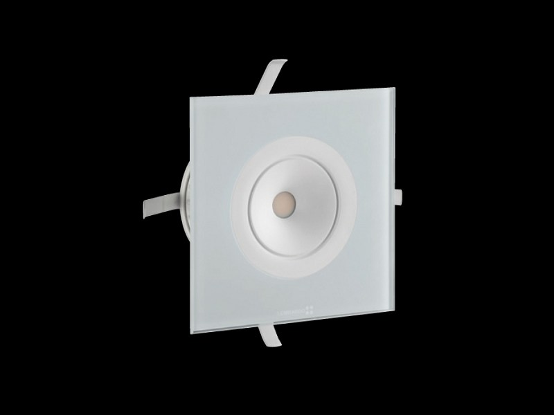 LED glass and aluminium steplight STILE NEXT POWER 120Q by Lombardo