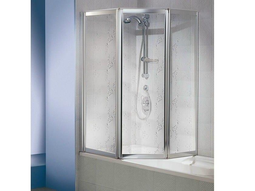 Pareti Per Doccia In Acrilico : Box doccia per vasca tre pannelli pieghevoli soffietto