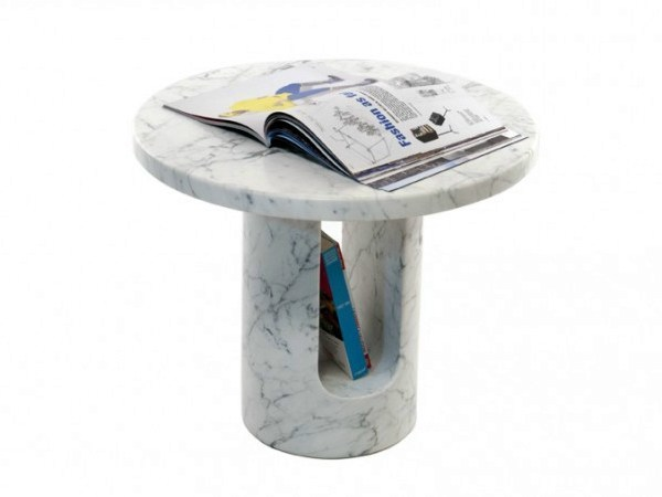 Round coffee table with integrated magazine rack U-TURN by Covo