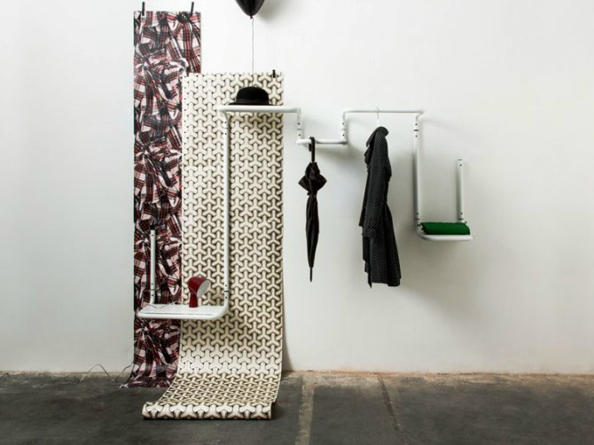 Wall-mounted coat rack FLOOR 95 by Covo
