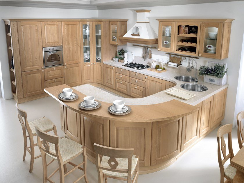 VERONICA | Chestnut kitchen By Cucine Lube
