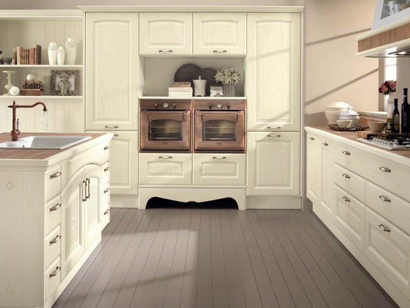 Decapé ash kitchen with island VERONICA | Kitchen with island by Cucine Lube