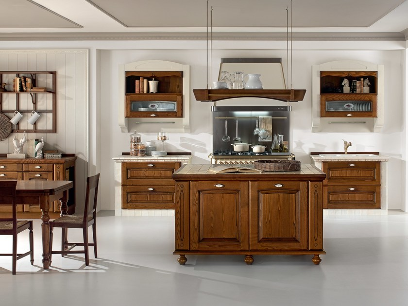 VERONICA | Kitchen with handles By Cucine Lube