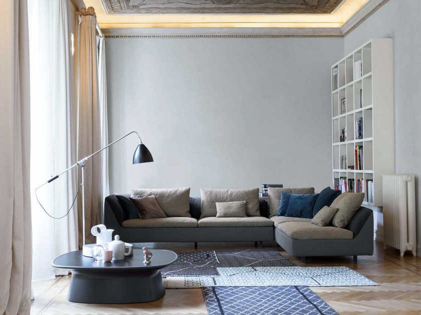 Sectional leather sofa SINUA by Bonaldo