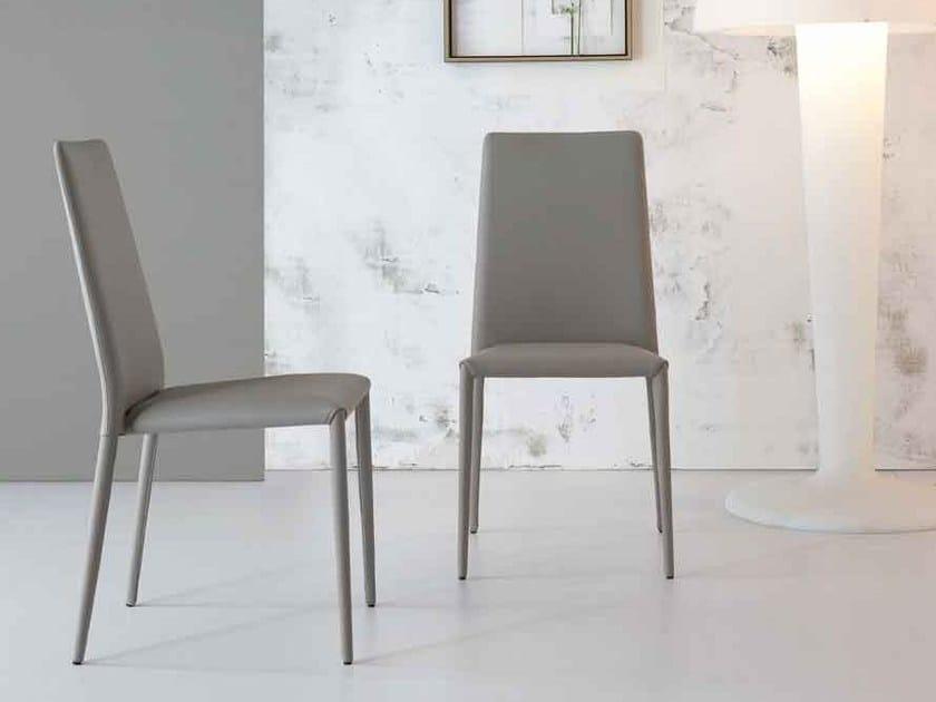 Upholstered high-back chair ERAL by Bonaldo