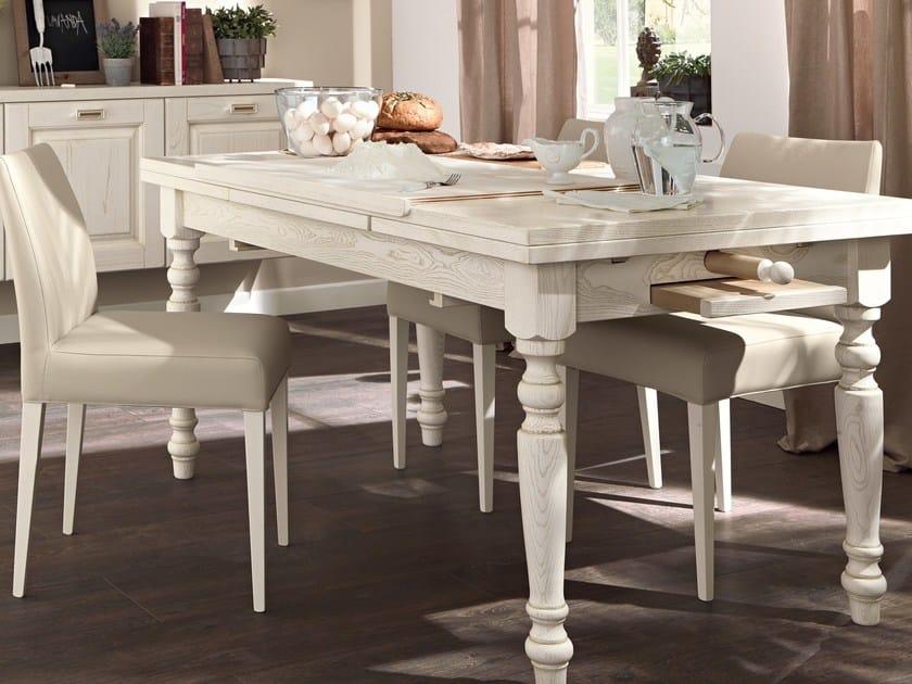 Tavolo allungabile da cucina in legno vecchia toscana - Sedie e tavoli da cucina ...