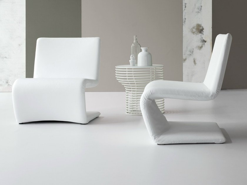Cantilever upholstered easy chair VENERE LOUNGE by Bonaldo