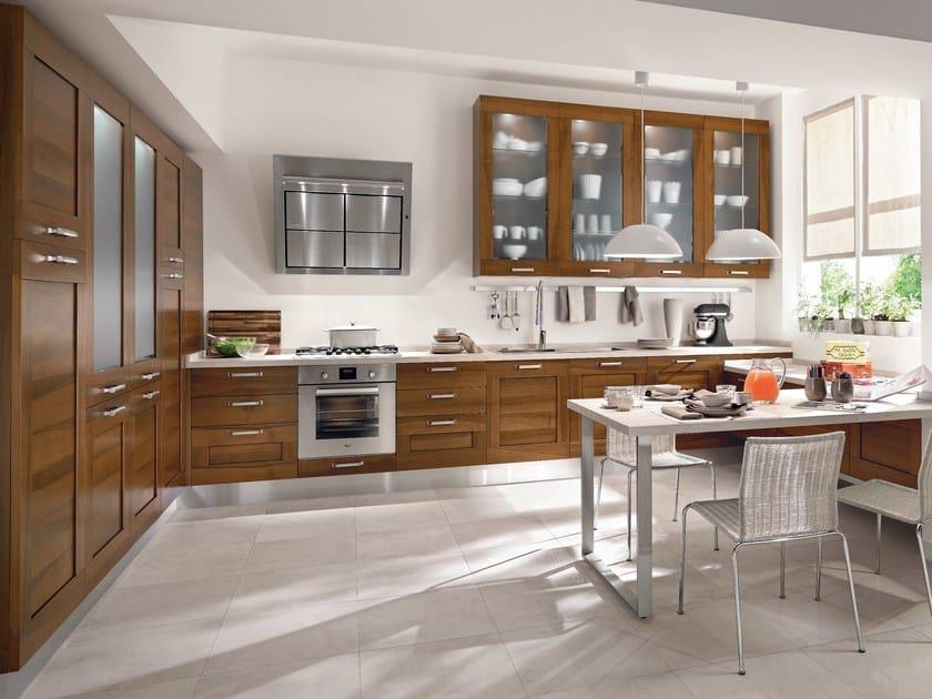 Gallery walnut kitchen by cucine lube design studio ferriani for Maniglie cucina lube