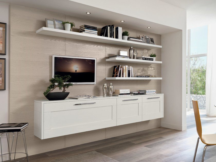 Wall-mounted ash storage wall GALLERY | Ash storage wall by Cucine Lube